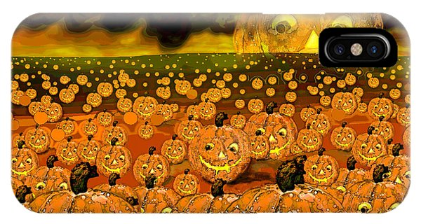 Midnight Pumpkin Patch IPhone Case