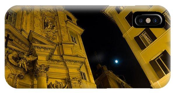 Midnite iPhone Case - Midnight Roman Facades In Yellow  by Georgia Mizuleva