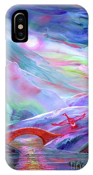 Midnight Silence, Flying Goose IPhone Case