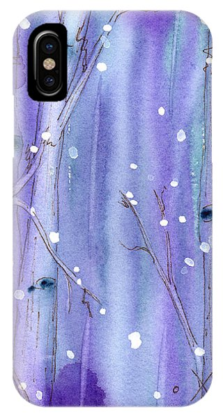 Midnight Snow In The Aspens IPhone Case