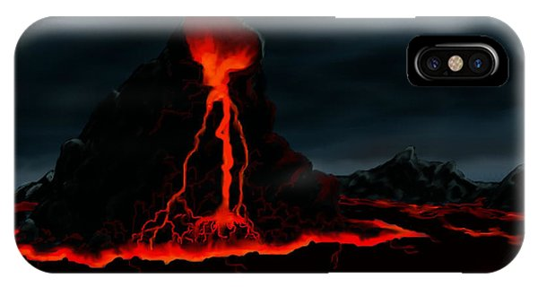 Midnight Volcano Phone Case by Brad Simpson