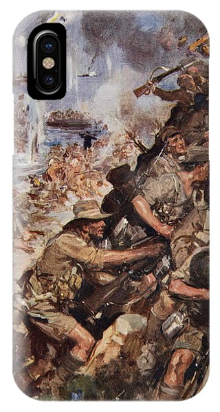 British Empire iPhone Case - Midst Shot And Shell We Made The Narrow by Cyrus Cuneo