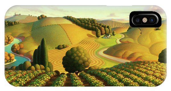 Country Landscape iPhone Case - Midwest Vineyard by Robin Moline