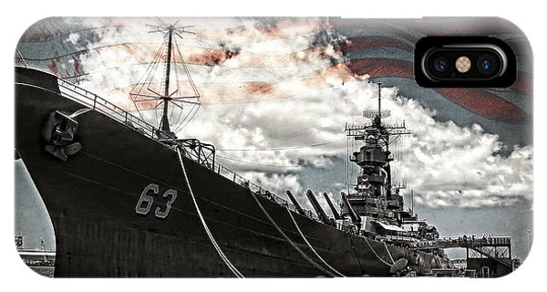 Mighty Mo U.s.s. Missouri IPhone Case