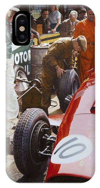 Mike Hawthorn Ferrari 801  Aintree 1957 Phone Case by Alberto Ponno