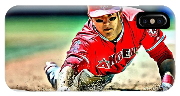 Mike Trout Painting IPhone Case