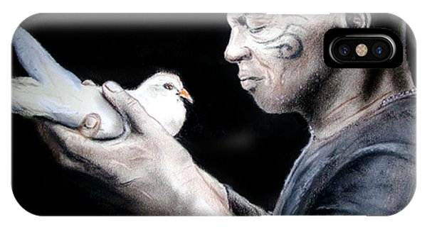 Mike Tyson And Pigeon IPhone Case