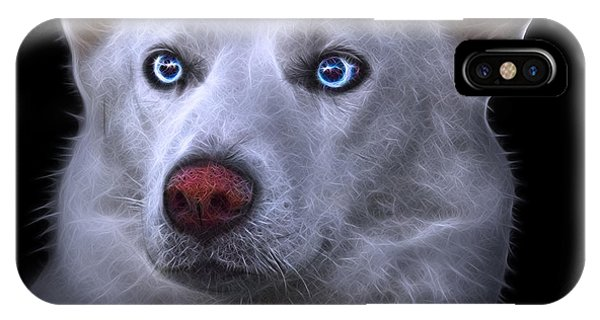 IPhone Case featuring the painting Mila - Siberian Husky - 2103 - Bb by James Ahn