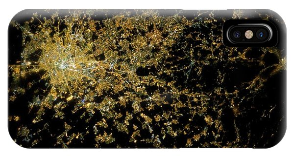 International Space Station iPhone Case - Milan At Night From Space by Nasa/science Photo Library