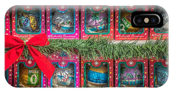 Novelty iPhone Case - Mile Marker 0 Christmas Decorations Key West 4 - Hdr Style by Ian Monk