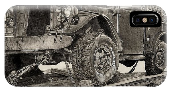 Old Chevy Truck iPhone Case - Miles And Miles by Mike Sangh