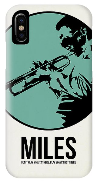 Jazz iPhone Case - Miles Poster 1 by Naxart Studio