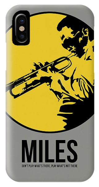 Jazz iPhone Case - Miles Poster 3 by Naxart Studio