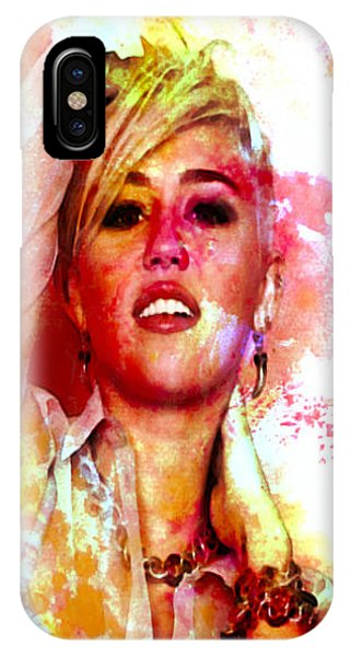 Billy Idol iPhone X Case - Miley Cyrus As I Am by Brian Reaves