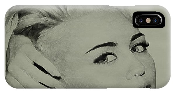 Billy Idol iPhone X Case - Miley Cyrus  by Brian Reaves