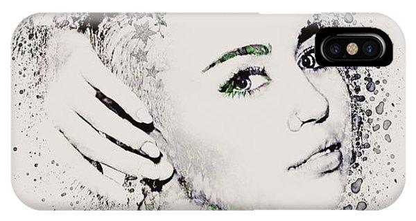 Mtv iPhone Case - Miley Cyrus by Gillian Singleton