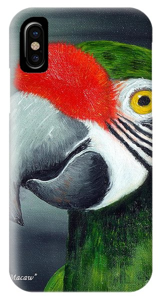 Military Macaw IPhone Case