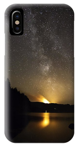 Milky Way At Crafnant 2 IPhone Case