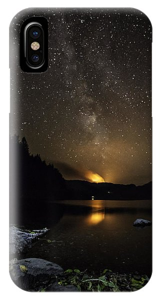 Milky Way At Crafnant IPhone Case