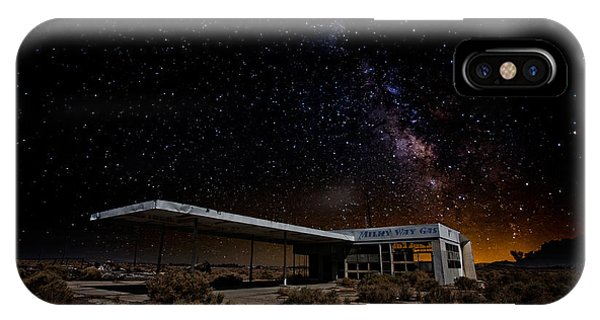 Gas Station iPhone Case - Milky Way Gas by Peter Tellone
