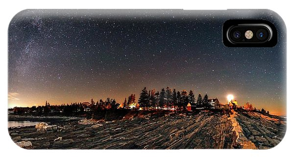 Treeline iPhone Case - Milky Way Over An Atlantic Coastline by Babak Tafreshi
