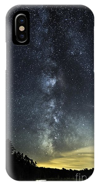 Milky Way Over Beaver Pond In Phippsburg Maine 2 IPhone Case