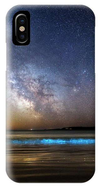 Milky Way Over Bioluminescent Plankton IPhone Case