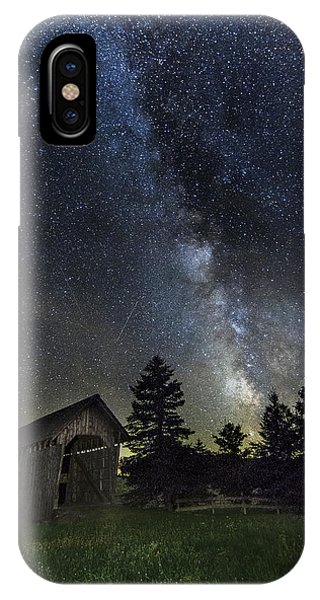 Milky Way Over Foster Covered Bridge IPhone Case