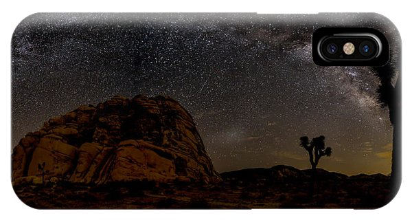 Milky Way Over Joshua Tree Phone Case by Peter Tellone