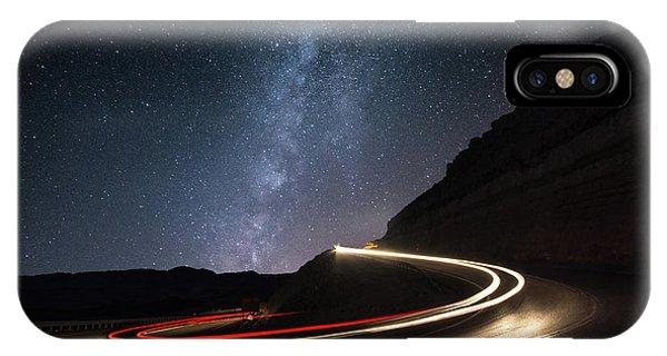 Long Exposure iPhone Case - Milky Way Over Mitzpe Ramon by Erez Vansover