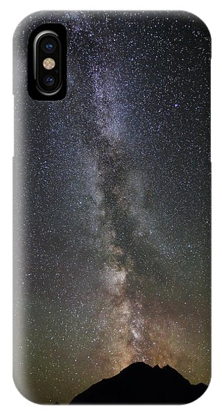 Milky Way Over Mount Logan In Glacier National Park IPhone Case