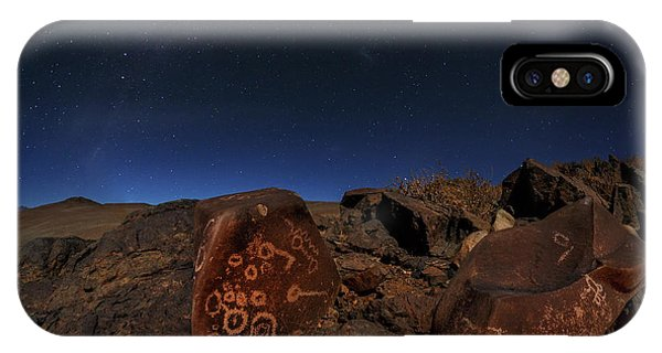 Constellations iPhone Case - Milky Way Over Petroglyphs by Babak Tafreshi