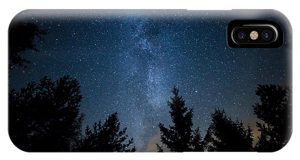 Milky Way Over The Forest IPhone Case