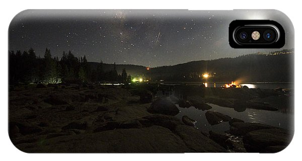 Milky-way Over Plasse's Resort - Silver Lake IPhone Case