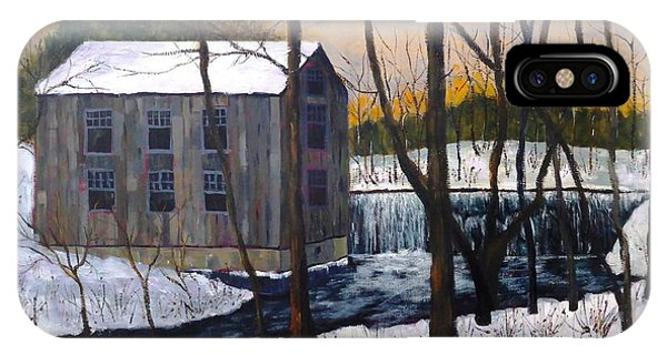 Mill At Walters Falls IPhone Case