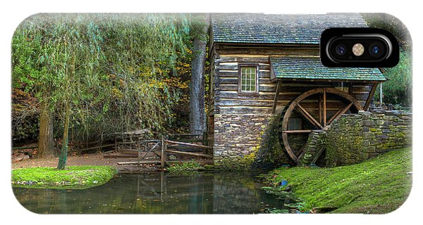 Mill Pond In Woods IPhone Case