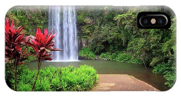 Far North Queensland iPhone Case - Millaa Millaa Falls Is One by Paul Dymond