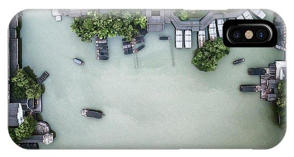 Above iPhone Case - Millennium Ancient Town by Zhou Chengzhou