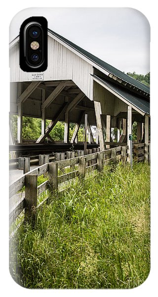 Covered Bridge iPhone Case - Millers Run Covered Bridge by Edward Fielding
