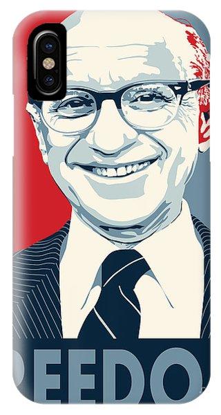 Capitalism iPhone Case - Milton Friedman by John Lehman