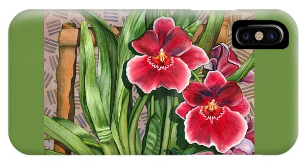 Miltonia Orchids IPhone Case