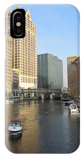 Milwaukee River Theater District 3 IPhone Case