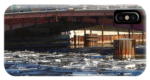 Milwaukee River - Winter 2014 Phone Case by David Blank