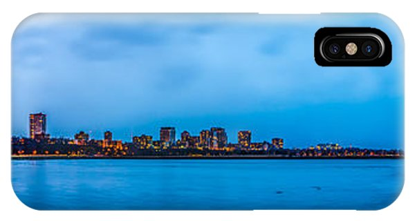 IPhone Case featuring the photograph Milwaukee Skyline - Version 2 by Steven Santamour