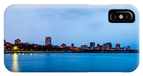IPhone Case featuring the photograph Milwaukee Skyline - Version 1 by Steven Santamour