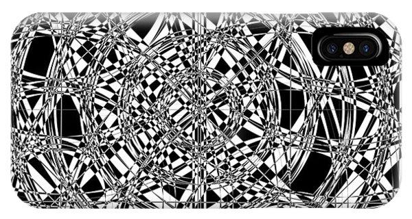 Illusion iPhone Case - B W Sq 7 by Mike McGlothlen