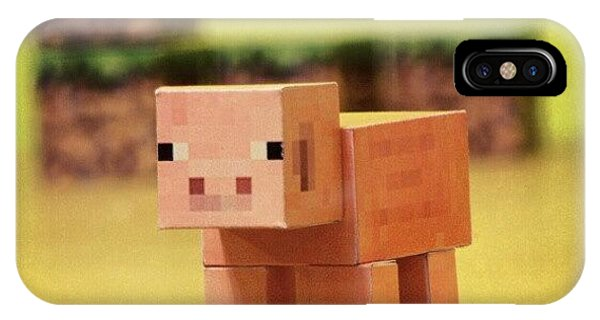 Supply iPhone Case - #minecraft #pig #piggy #paper #papercut by Mato Mato