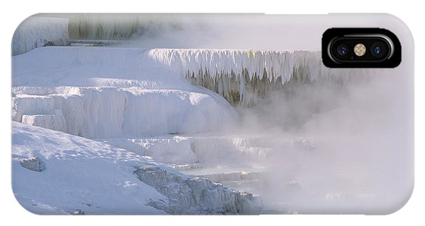 Mammoth Hot Springs iPhone Case - Mineral Terrace by Simon Fraser/science Photo Library