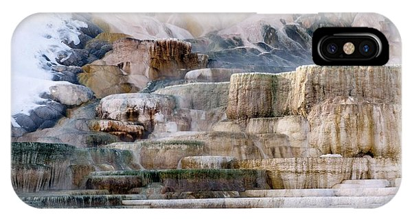 Mammoth Hot Springs iPhone Case - Mineral Terraces by Dr P. Marazzi/science Photo Library