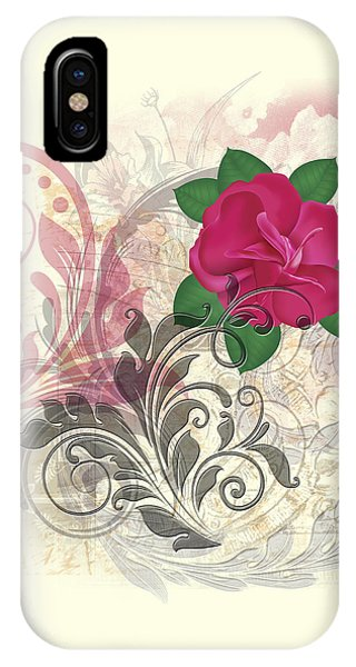 Mini Rose Flourish IPhone Case
